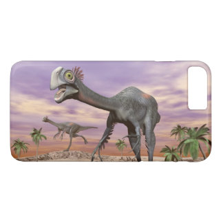 Gigantoraptor dinosaurs in the desert - 3D render iPhone 8 Plus/7 Plus Case