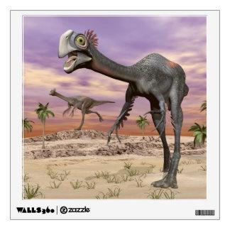 Gigantoraptor dinosaurs in the desert - 3D render Wall Decal