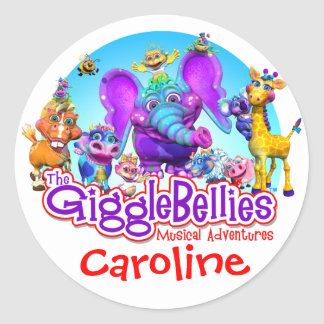 GiggleBellies + Your Child s Name Sticker