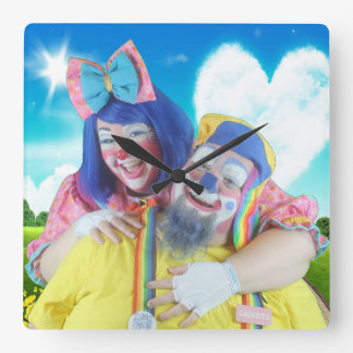 Giggles and Gadgets Square Wall Clock