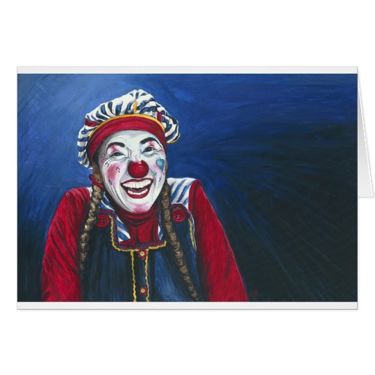 Giggles the Clown Painting Card