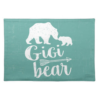 Gigi Bear Cute Great Grandma Gift Placemat
