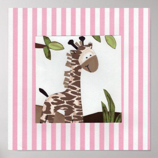 GiGi Giraffe Poster