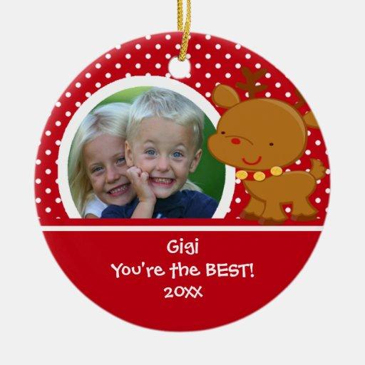 Gigi Photo Reindeer Christmas Ornament