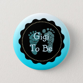 Gigi to be Blue Baby Boy Baby Shower Button