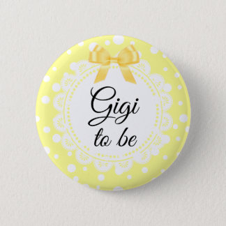 Gigi To Be Yellow Polka Dot Shower Button