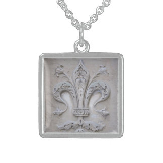 Giglio (Florentine Lily) Sterling Silver Necklace
