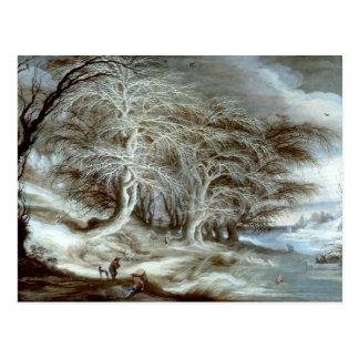 Gijsbrecht Leytens: A Winter Landscape Postcard