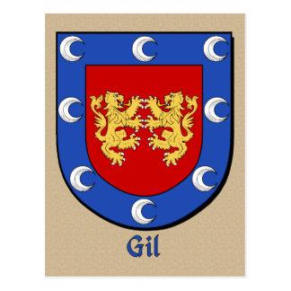 Gil Ancestral Heraldic Shield Postcard