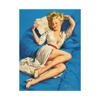 GIL ELVGREN He Thinks Pin Up Art Canvas Print