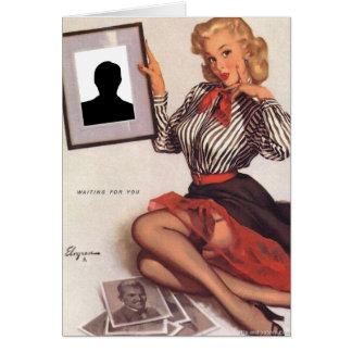 Gil Elvgren - Waiting For You Card