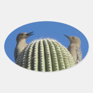 Gila Woodpecker Couple Stickers