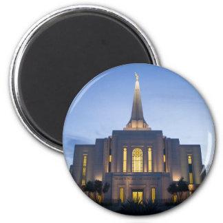 GIlbert Arizona LDS Temple 2 Inch Round Magnet