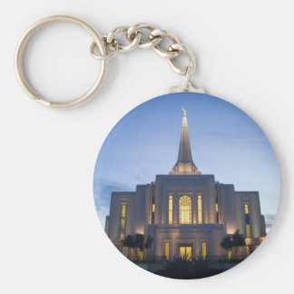 GIlbert Arizona LDS Temple Basic Round Button Keychain