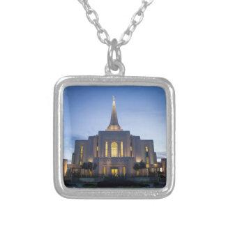Gilbert Arizona LDS Temple NecklaceGilbert Arizona Silver Plated Necklace