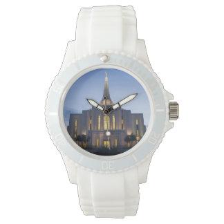 Gilbert Arizona LDS Temple White Silicon Watch