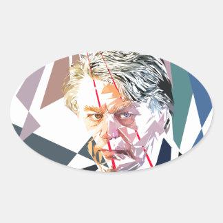 Gilbert Collard Oval Sticker