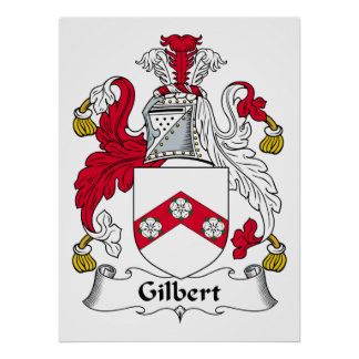 Gilbert Family Crest Poster