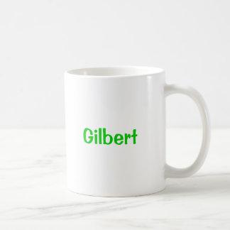 Gilbert Name Mug Green Text
