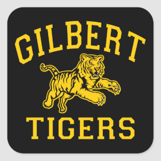 Gilbert Tigers Square Sticker