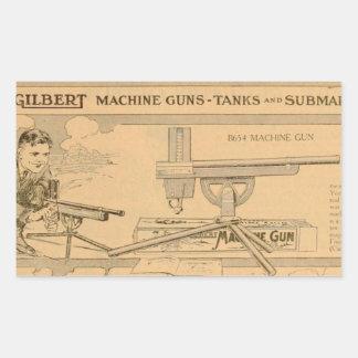 Gilbert toy's Machine Gun 1919 Sticker
