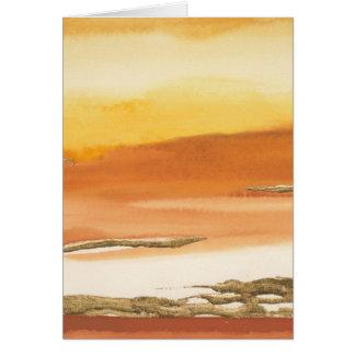 Gilded Amber I v2 Abstract Print Card