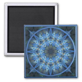 Gilded Azure 4  Square Fridge Magnet