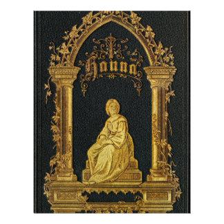 Gilded Book Cover Antique Jewish Prayer Book Hanna Letterhead Design