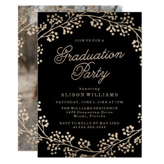 Gilded Bronze Graduation Party Invitation