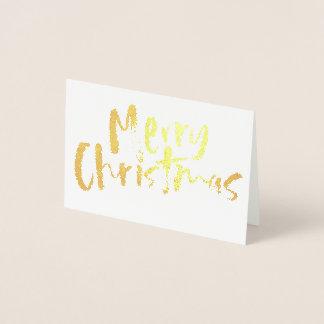 Gilded Christmas Foil Card