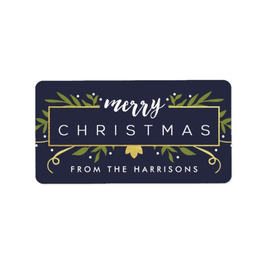 Gilded Christmas Personalized Gift Tags