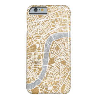 Gilded City Map Of London Barely There iPhone 6 Case