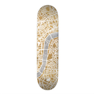 Gilded City Map Of London Custom Skate Board