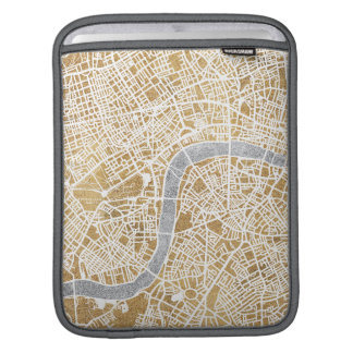 Gilded City Map Of London Sleeves For iPads