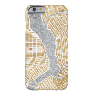 Gilded City Map Of New York Barely There iPhone 6 Case