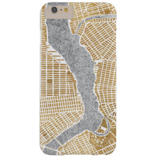 Gilded City Map Of New York Barely There iPhone 6 Plus Case