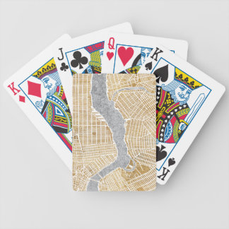 Gilded City Map Of New York Bicycle Playing Cards