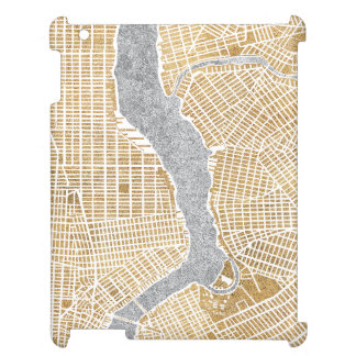 Gilded City Map Of New York iPad Cases