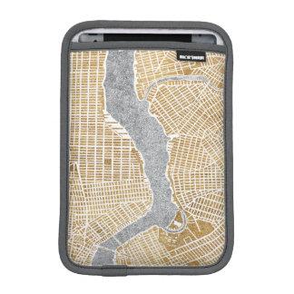 Gilded City Map Of New York iPad Mini Sleeve