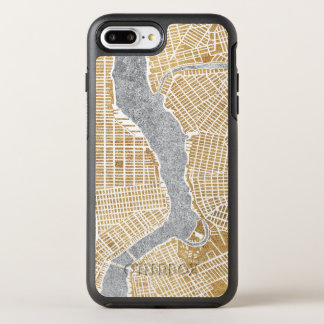 Gilded City Map Of New York OtterBox Symmetry iPhone 8 Plus/7 Plus Case