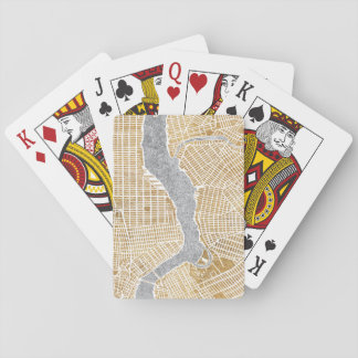 Gilded City Map Of New York Playing Cards
