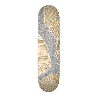 Gilded City Map Of New York Skate Decks