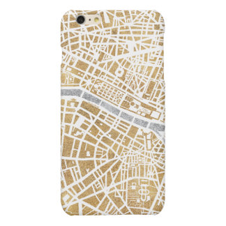Gilded City Map Of Paris