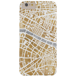 Gilded City Map Of Paris Barely There iPhone 6 Plus Case