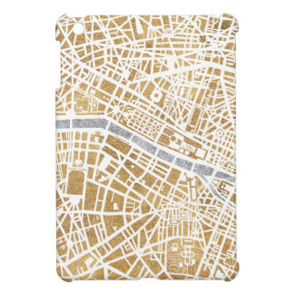 Gilded City Map Of Paris Cover For The iPad Mini