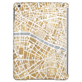 Gilded City Map Of Paris iPad Air Covers