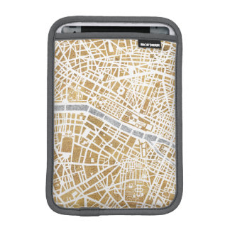 Gilded City Map Of Paris iPad Mini Sleeve