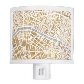 Gilded City Map Of Paris Nite Lite