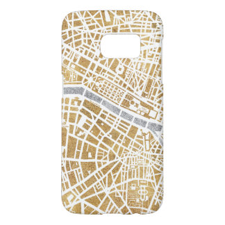 Gilded City Map Of Paris Samsung Galaxy S7 Case