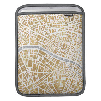 Gilded City Map Of Paris Sleeve For iPads